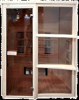 ИК сауна 2-х местная с витражом (керамика)